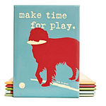 Make Time to Play Dog Magnet