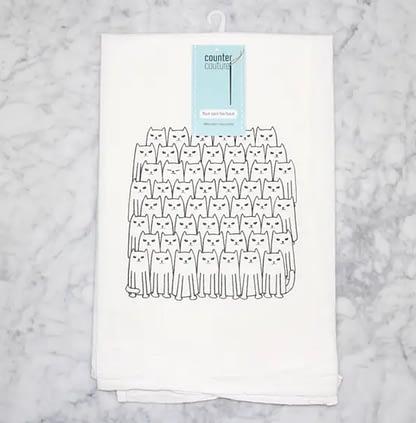 Cat Lover Kitchen Flour Sack Towel