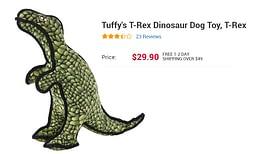 Tuffy's T-Rex Dinosaur Dog Toy, T-Rex