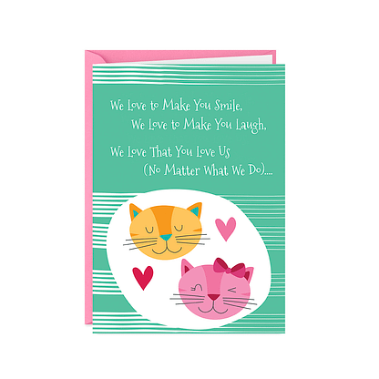 Valentines Day Card From Cat(s) (Cats Love You Back)